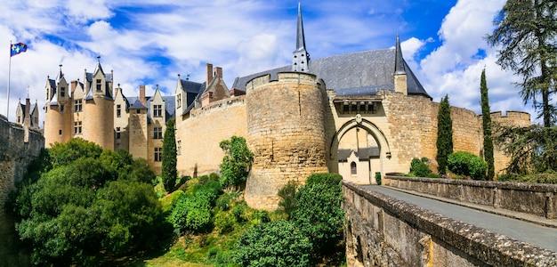 Grandes castelos medievais do vale do loire - montreuil-bellay. frança