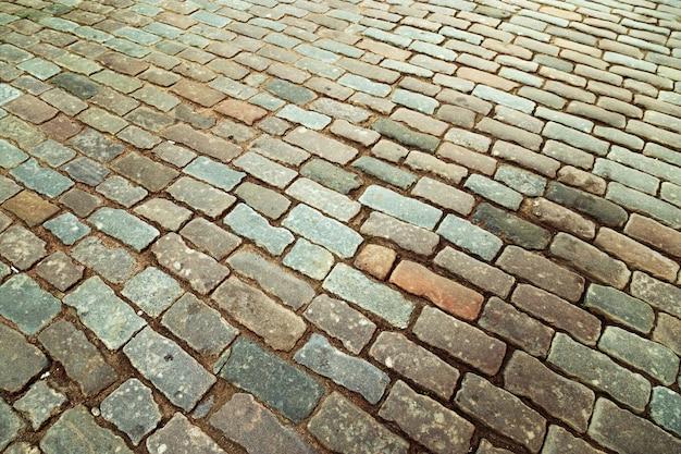 Grandes pedras no chão close-up