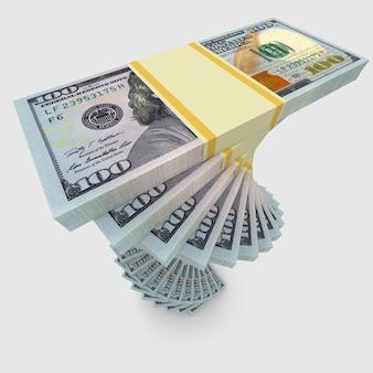 Grandes pilhas de dinheiro, dólares dos eua. finanças conceituais