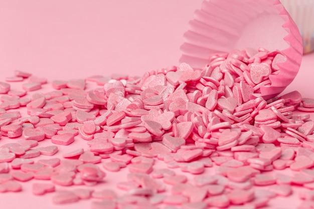Granulado açucarado rosa