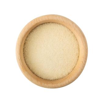 Grânulos de gelatina seca isolados