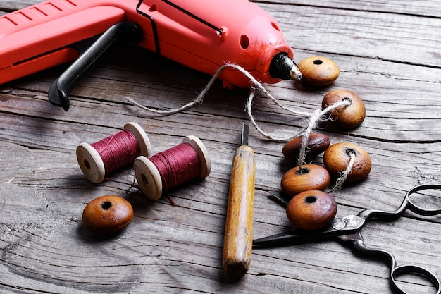 Grânulos e conjunto de ferramentas
