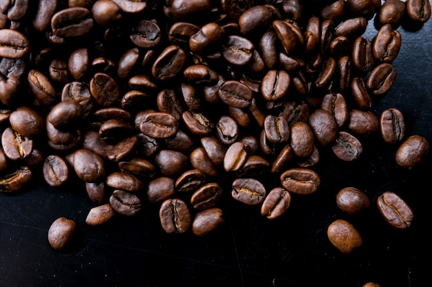 Grão de café torrado marrom