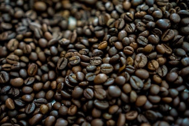 Grão de café torrado torrado escuro para cafeteria