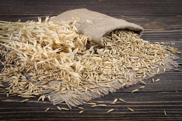 Grão de cereal de aveia