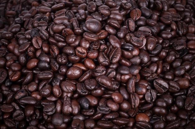 Grãos de café de fundo.