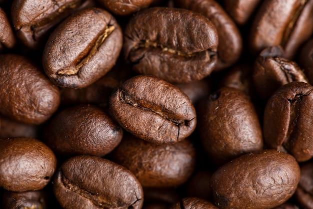 Grãos de café em close-up