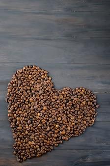 Grãos de café em forma de coração