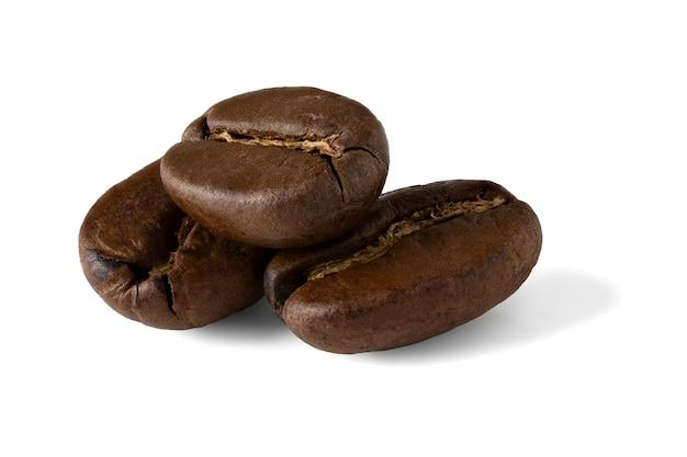 Grãos de café isolados