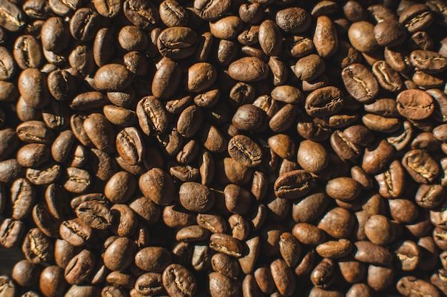 Grãos de café levemente torrados