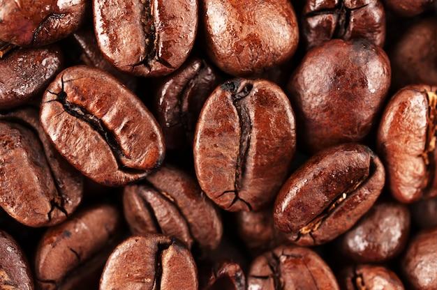 Grãos de café marrons