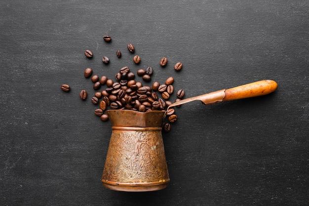 Grãos de café orgânicos em close-up