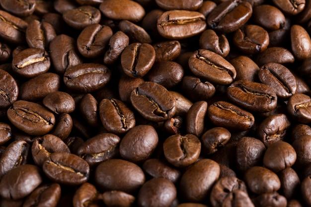 Grãos de café orgânicos frescos de close-up