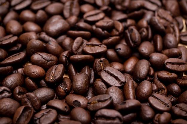 Grãos de café orgânicos.