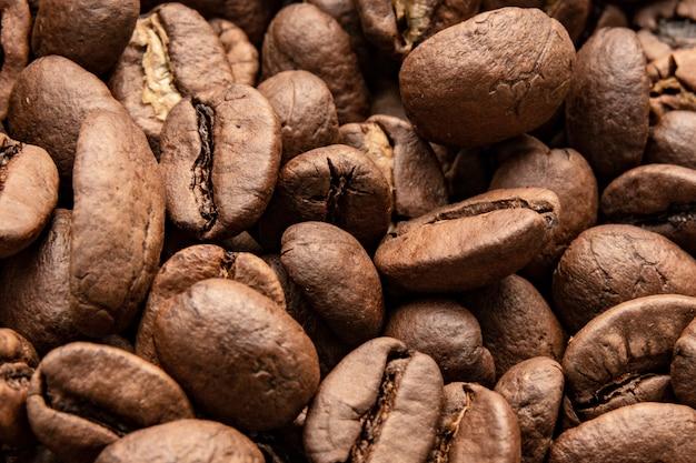 Grãos de café, textura de grãos de café