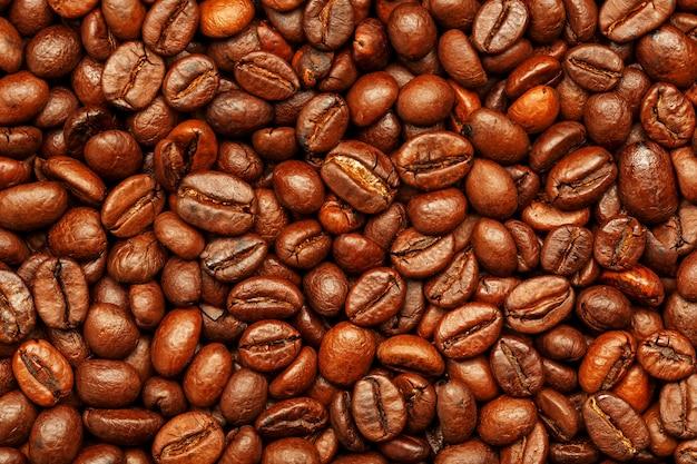 Grãos de café torrados como pano de fundo