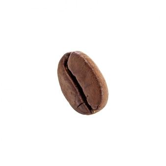 Grãos de café torrados isolados