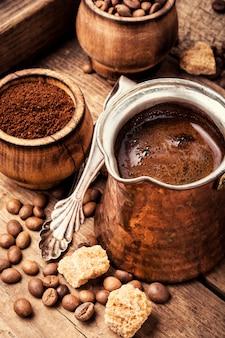 Grãos e grãos de café