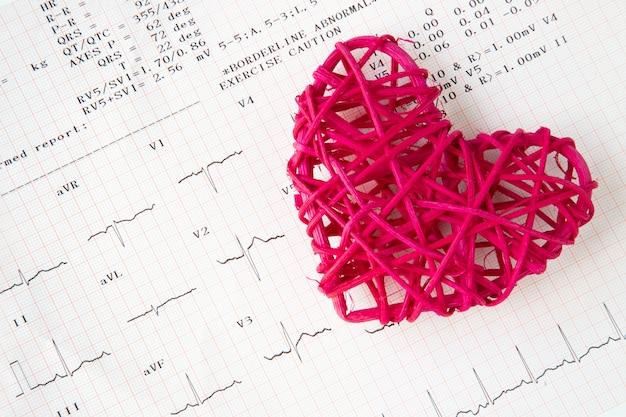 Gravação de coração e eletrocardiograma