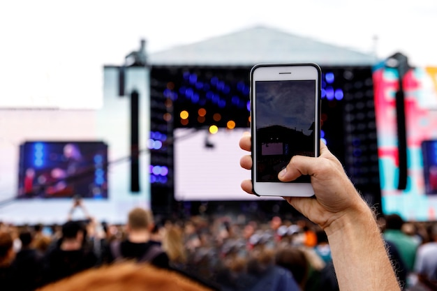 Gravação de vídeo em um telefone celular
