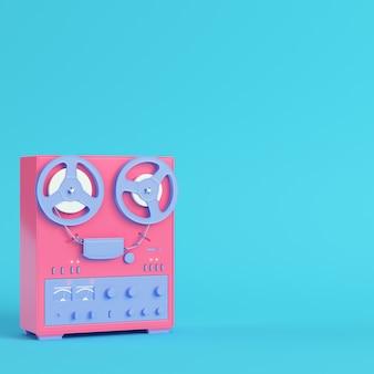 Gravador tipo bobina a bobina em cores pastel