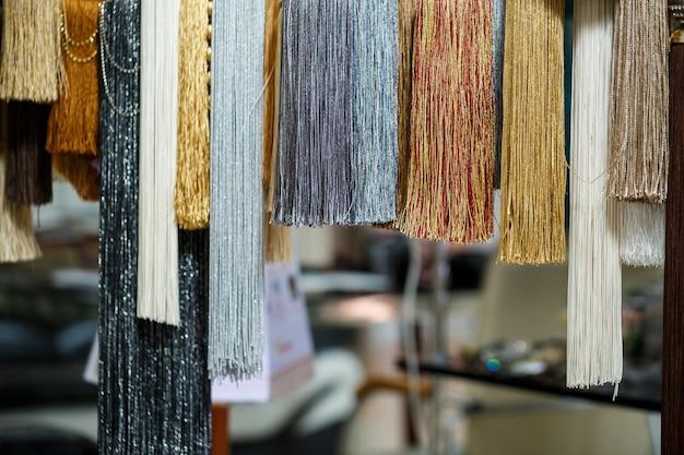Gravatas decorativas de têxteis para cortinas cortinas