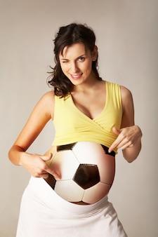 Gravidez vida feminina bola sorrindo