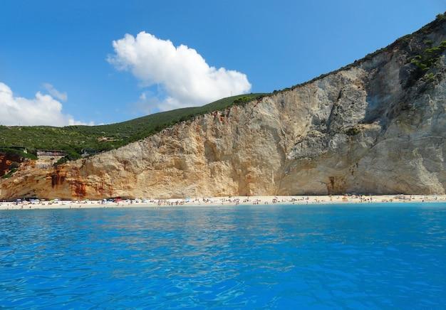 Grécia lefkada porto katsiki praia verão paisagem
