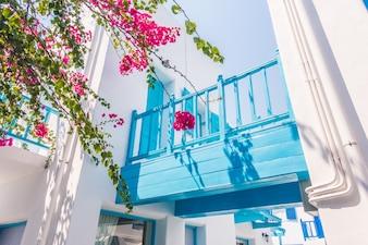 Grego janela Mykonos verão mediterrâneo