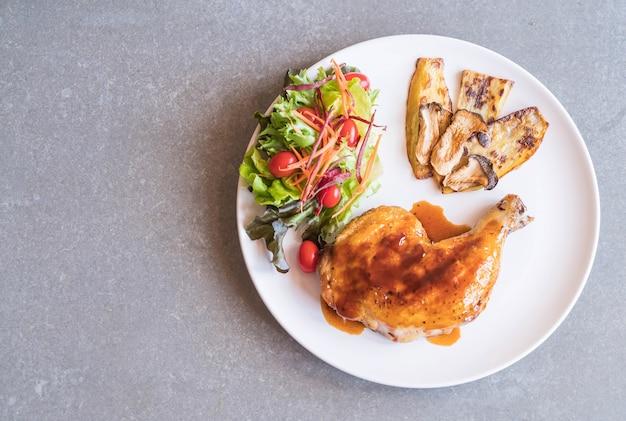 Grelha de frango com molho de teriyaki