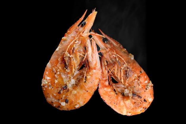 Grill estilo churrasco de camarão.