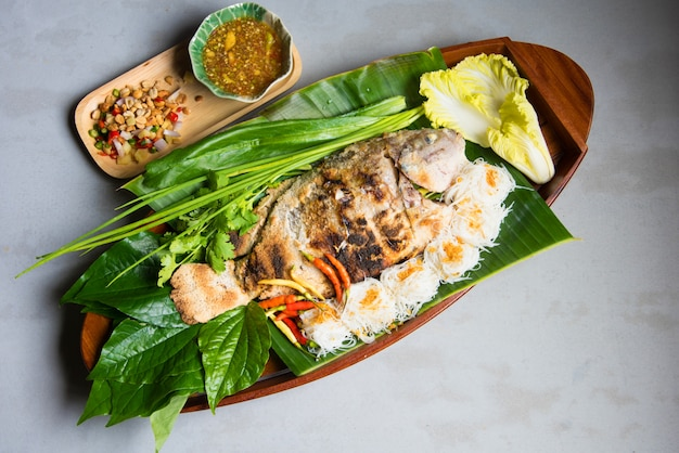 Grill tilapia fish