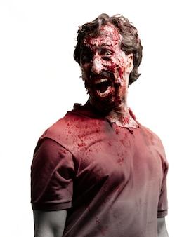 Gritando zombie com o lado da cabeça