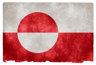 Groenlândia grunge bandeira