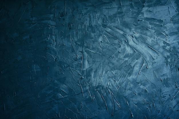 Grunge azul escuro e cimento de textura ou concreate