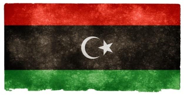 Grunge bandeira líbia
