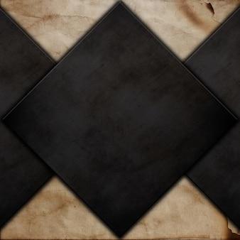 Grunge de metal na textura de papel velho