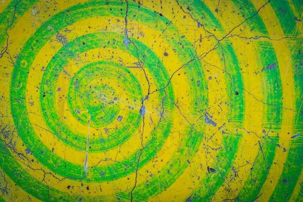 Grunge fundo amarelo e verde da parede.