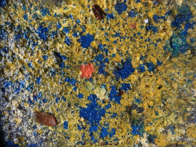 Grunges amarelo e azul