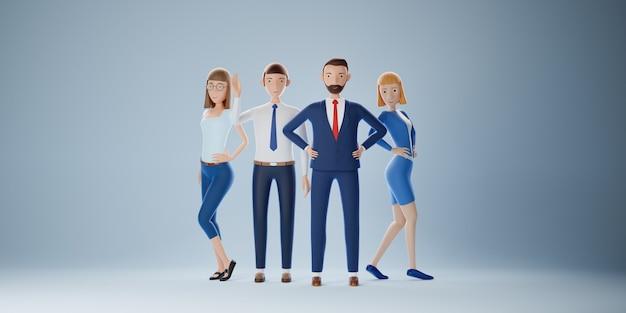 Grupo da equipe de negócios de elite. sucesso do conceito de negócio. ilustração 3d