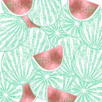 Grupo da fruta da melancia