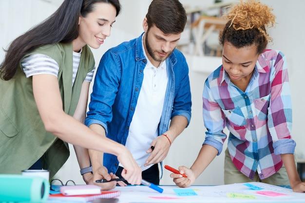 Grupo de alunos do projeto de planejamento