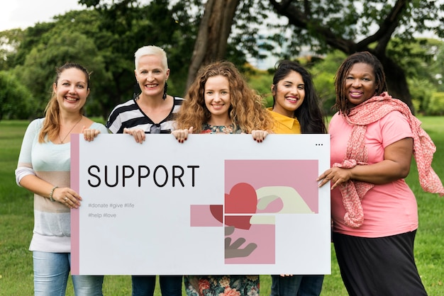 Grupo de apoio feminino