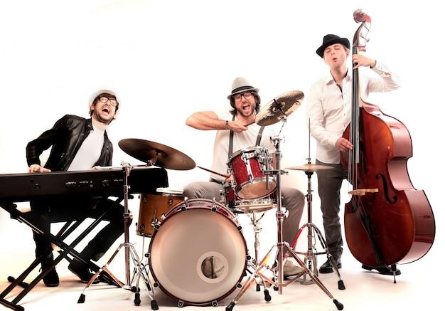 Grupo de banda de músico