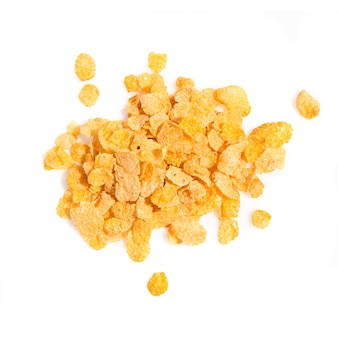 Grupo de cereais isolado sobre fundo branco