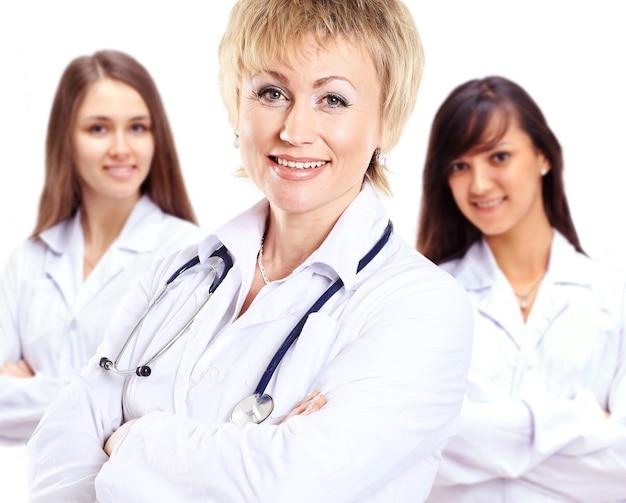 Grupo de colegas de hospital sorridentes