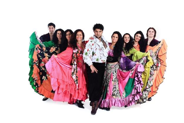 Grupo de dança cigana um show de dança