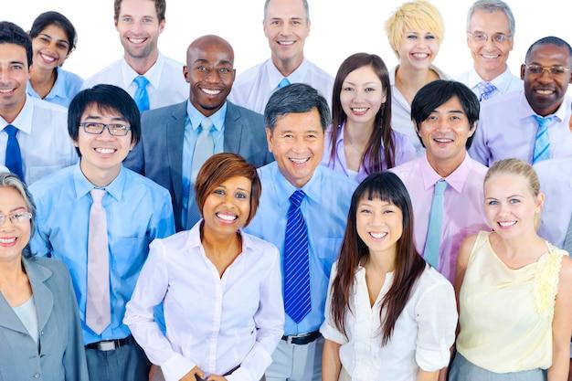 Grupo, de, diverso, pessoas negócio