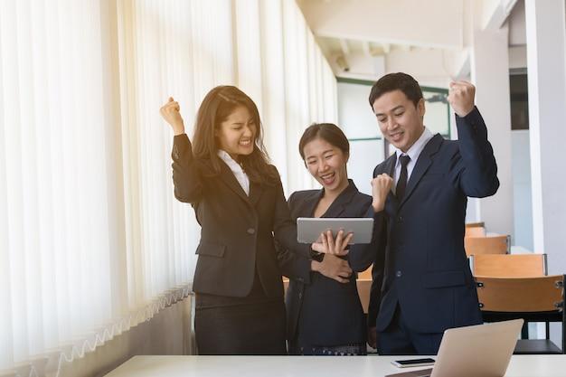 Grupo de empresário