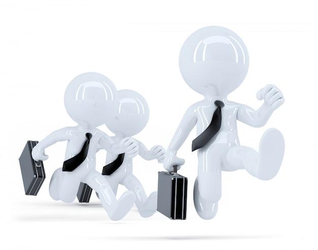 Grupo de empresários em execução. conceito de negócios